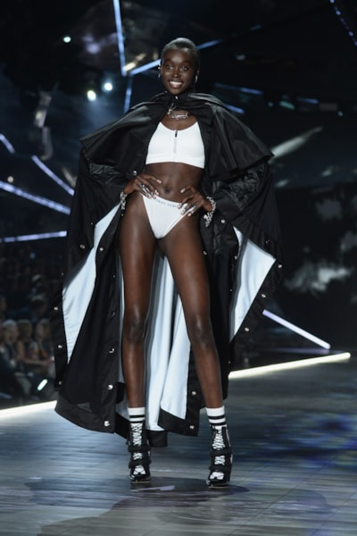 NEW YORK, NEW YORK - NOVEMBER 08: Subah Koj walks the runway during the 2018 Victoria's Secret Fashion Show at Pier 94 on November 08, 2018 in New York City. (Photo by Noam Galai/Getty Images)
