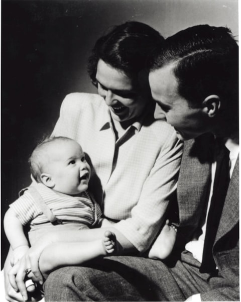 374942 02: (FILE PHOTO)  An infant George W. Bush with his mother Barbara Bush and his father George Bush posing for a portrait in New Haven, CT, April 1947. George W. Bush is currently campaigning for the Republican party for the presidencial election in November 2000.  (Photo by Newsmakers)