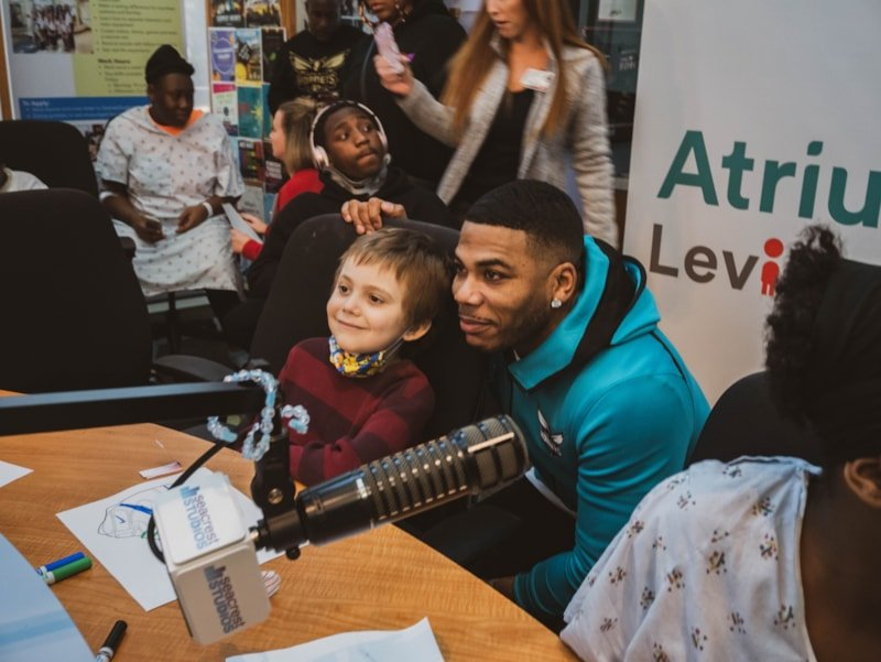 Nelly said he always wanted to play Santa, and this year he did just that! Giving over 200 kids toys and gadgets to kids to play with during the holidays, Nelly and the Morning Maddhouse's very own No Limit Larry and Ms. Jessica brought cheer to children at the Levine Children's Hospital. Photos by Mark…