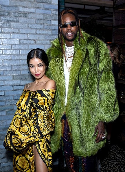 WEST HOLLYWOOD, CALIFORNIA - FEBRUARY 08: Jhene Aiko (L) and 2 Chainz attend the Def Jam Pre-Grammy 2019 party  at Catch LA on February 08, 2019 in West Hollywood, California. (Photo by Presley Ann/Getty Images for Def Jam Recordings)