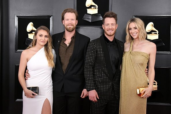 LOS ANGELES, CALIFORNIA - FEBRUARY 10: (L-R) Brittney Marie Cole, Brian Kelley and Tyler Hubbard of Florida Georgia Line, and Hayley Stommel Hubbard attend the 61st Annual GRAMMY Awards at Staples Center on February 10, 2019 in Los Angeles, California. (Photo by Jon Kopaloff/Getty Images)
