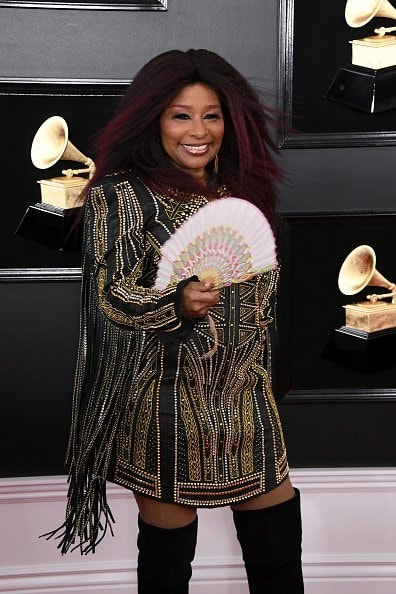 LOS ANGELES, CALIFORNIA - FEBRUARY 10: Chaka Khan attends the 61st Annual GRAMMY Awards at Staples Center on February 10, 2019 in Los Angeles, California. (Photo by Jon Kopaloff/Getty Images)