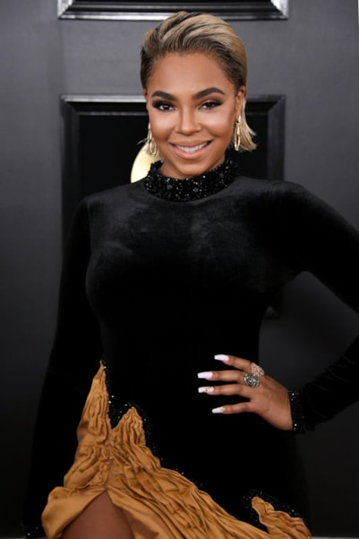 LOS ANGELES, CALIFORNIA - FEBRUARY 10: Ashanti attends the 61st Annual GRAMMY Awards at Staples Center on February 10, 2019 in Los Angeles, California. (Photo by Jon Kopaloff/Getty Images)