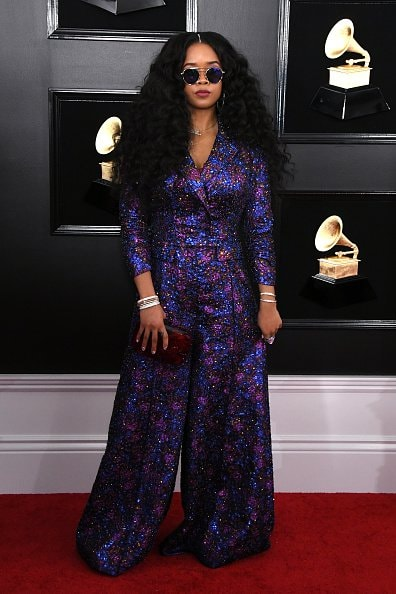 LOS ANGELES, CALIFORNIA - FEBRUARY 10: H.E.R. attends the 61st Annual GRAMMY Awards at Staples Center on February 10, 2019 in Los Angeles, California. (Photo by Jon Kopaloff/Getty Images)